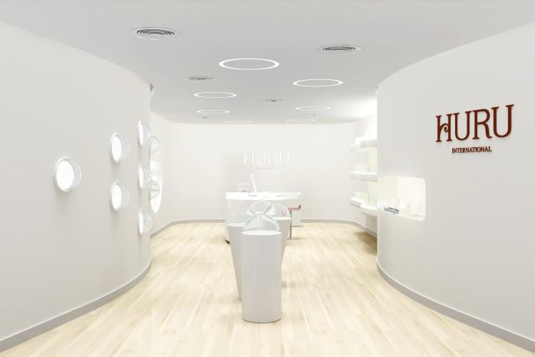 HURU标志设计,HURU VI设计,HURU展厅设计_全力设计
