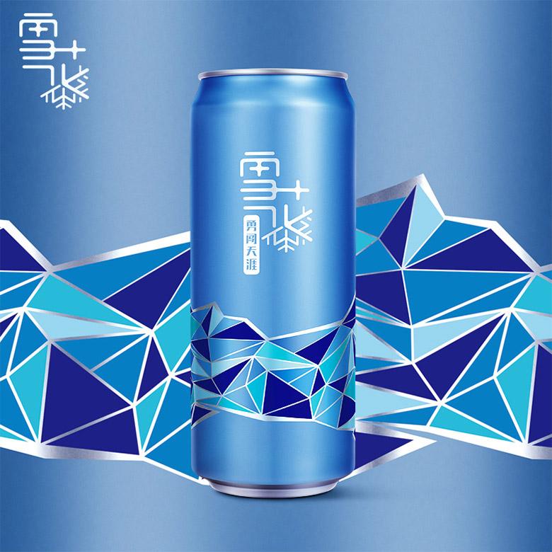 雪花啤酒发布全新概念品牌logo和包装
