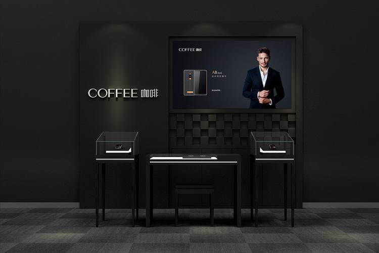 咖啡手机标志设计,VI设计,LOGO设计,店面设计_全力设计