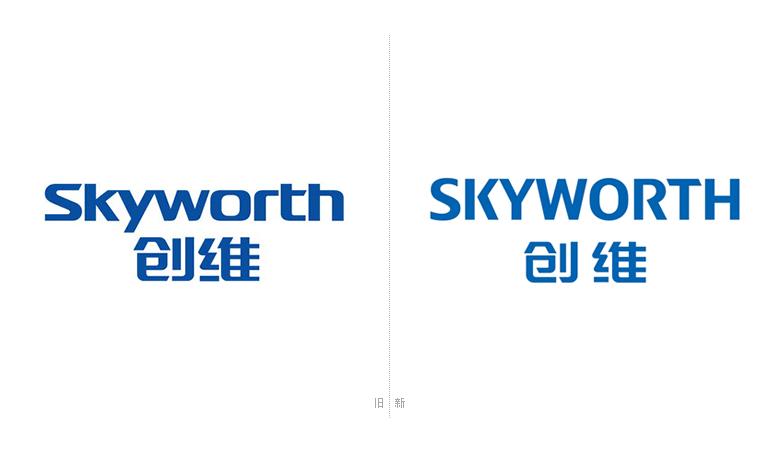 """而此次曝光的新标志在保留""""科技蓝""""的品牌色的基础上,又一次将英文从小写改为大写,同时也调整来中文字体的间距和字型的部分细节,如""""创""""字的左下部""""巳""""由之前的封闭改为斜切缺口,处理为包容封闭""""维""""字的""""纟""""和""""隹""""的比例也发生来变化。"""
