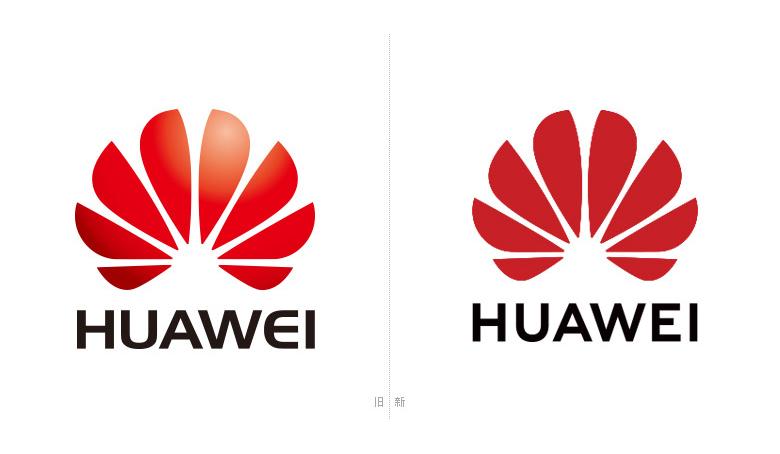 华为启用扁平化新logo