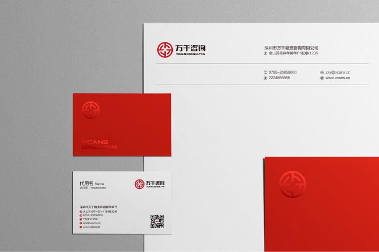 万千咨询品牌形象设计,标志设计,LOGO设计和商标设计_全力设计