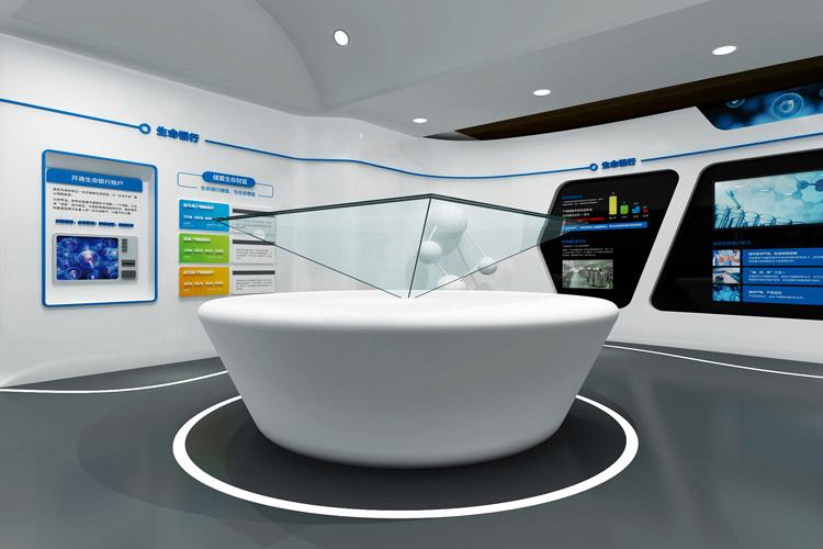 新疆佳音医院干细胞库品牌形象展厅设计_全力设计