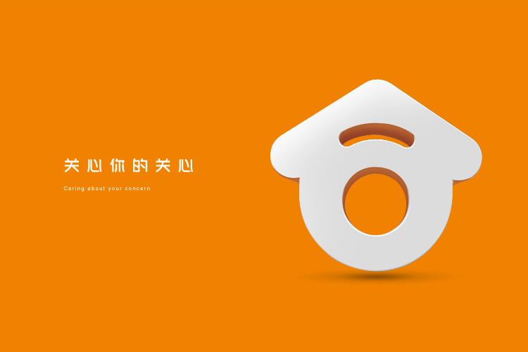 合家欢私人管家标志设计,品牌VI形象设计和LOGO设计_全力设计