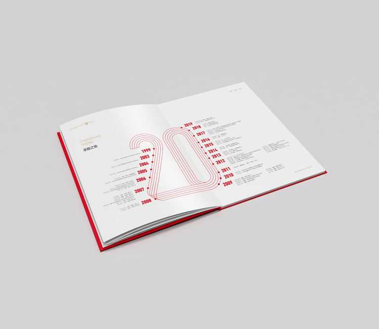 承翰集团品牌形象塑造,承翰集团二十周年画册设计,承翰集团20周年画册设计